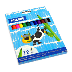 Pens & Markers: Milan FibrePens Supertip set of 12