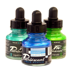 Inks: Daler-Rowney Pearlescent 29.5ml