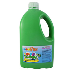 Low Cost Water-Base Paint: FAS Super Liquid Tempera 2Ltr Green