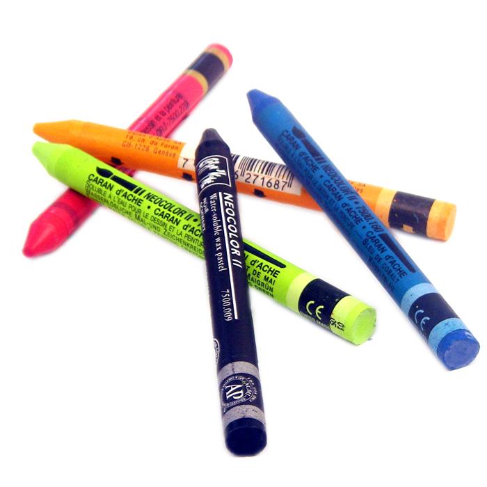 nouveaux styles 67c6b 6b8c0 Caran d'Ache Neocolor II Watersoluble Crayons (Pastels ...