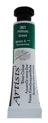 Watercolour -Professional: Daler-Rowney Artist Watercolour 5ml S1 Phthalo Green