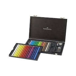 Coloured Pencils: Faber-Castell Albrecht Durer Magnus Watercolour Pencil Wood Case