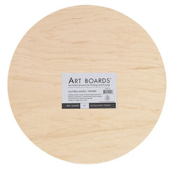 Art Boards & ACM Panels: Art Boards Natural Maple Rounds