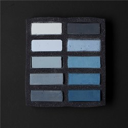 Soft: Art Spectrum Extra Soft Square Pastel Sets 10 Cool Greys