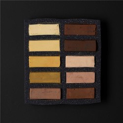 Soft: Art Spectrum Extra Soft Square Pastel Sets 10 Ochre Earths