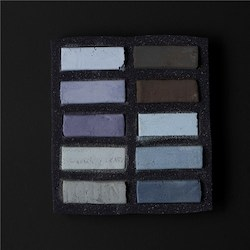 Soft: Art Spectrum Extra Soft Square Pastel Sets 10 Warm Greys